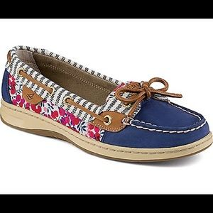 Sperry cherry blossom angelfish boat shoes